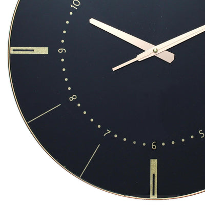 Christiana Estelle Black Wall Clock 45cm WJ096S 3