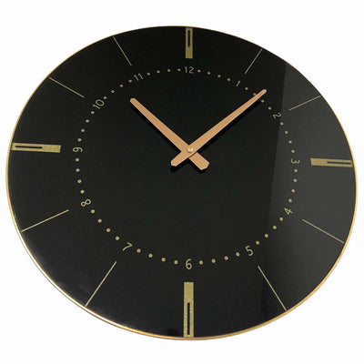 Christiana Estelle Black Wall Clock 45cm WJ096S 1