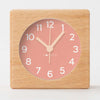 Clocksicle Blush Silent Wood Alarm Clock 9cm 9BUWDYW 1
