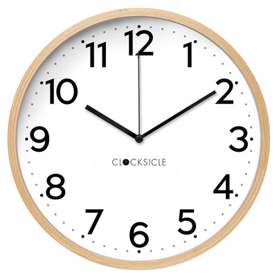 Clocksicle Silent Black Wood Wall Clock 40cm 40BKWDBK 1