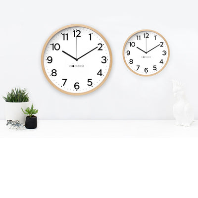 Clocksicle Silent Black Wood Wall Clock 40cm 40BKWDBK 3