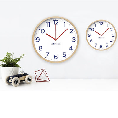 Clocksicle Silent Navy Wood Wall Clock 40cm 40NVWDRD 3