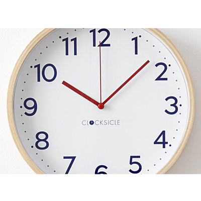Clocksicle Silent Navy Wood Wall Clock 40cm 40NVWDRD 4