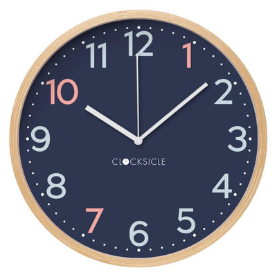 Clocksicle Silent Sailor Blue Wood Wall Clock 26cm 26SAWDWH 1