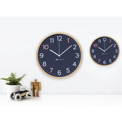 Clocksicle Silent Sailor Blue Wood Wall Clock 26cm 26SAWDWH 3