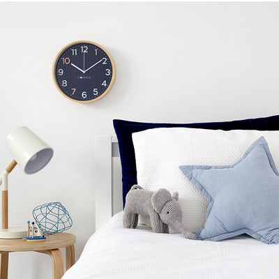 Clocksicle Silent Sailor Blue Wood Wall Clock 26cm 26SAWDWH 5