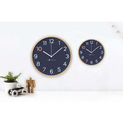 Clocksicle Silent Sailor Blue Wood Wall Clock 40cm 40SAWDWH 3