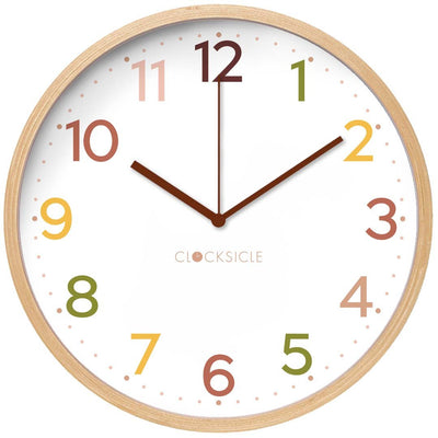 Clocksicle Vintage Cappuccino Silent Wood Wall Clock 26cm 26VTWDBN 1