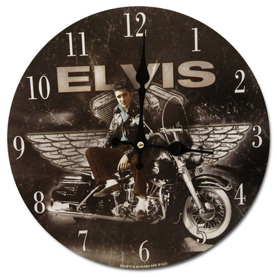 Collectables Elvis Presley On Motorbike Wall Clock 30cm OPWC8779 1