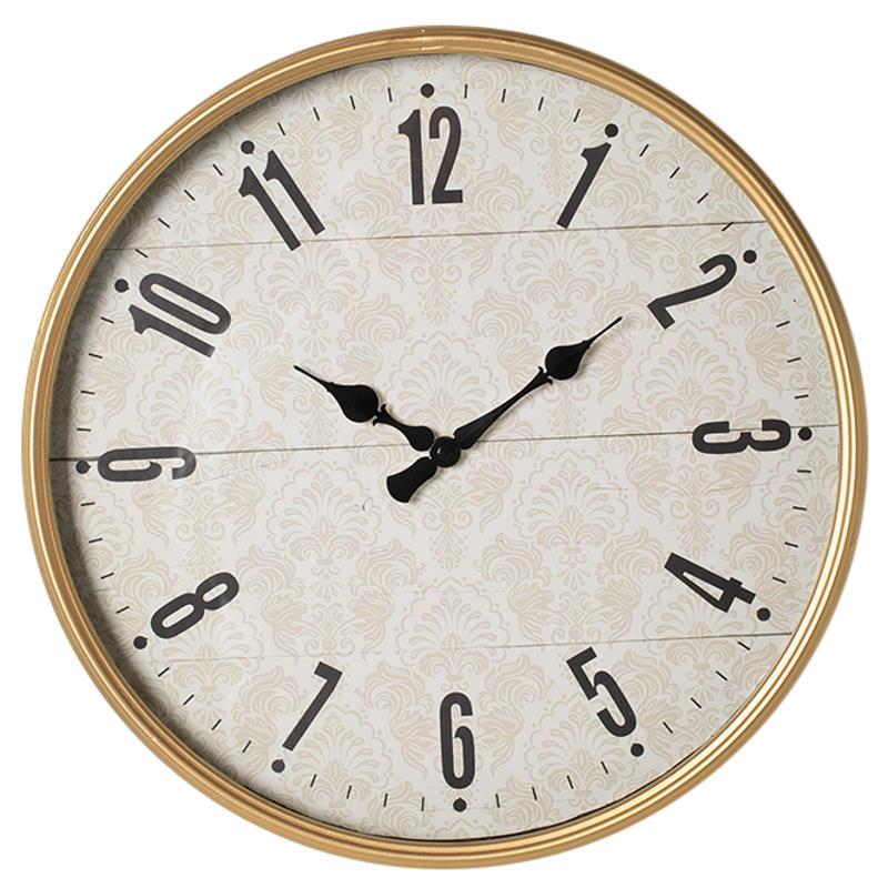 Debonaire Julia Ornate Pattern Gold Metal Wall Clock 41cm CL676-Gold 1