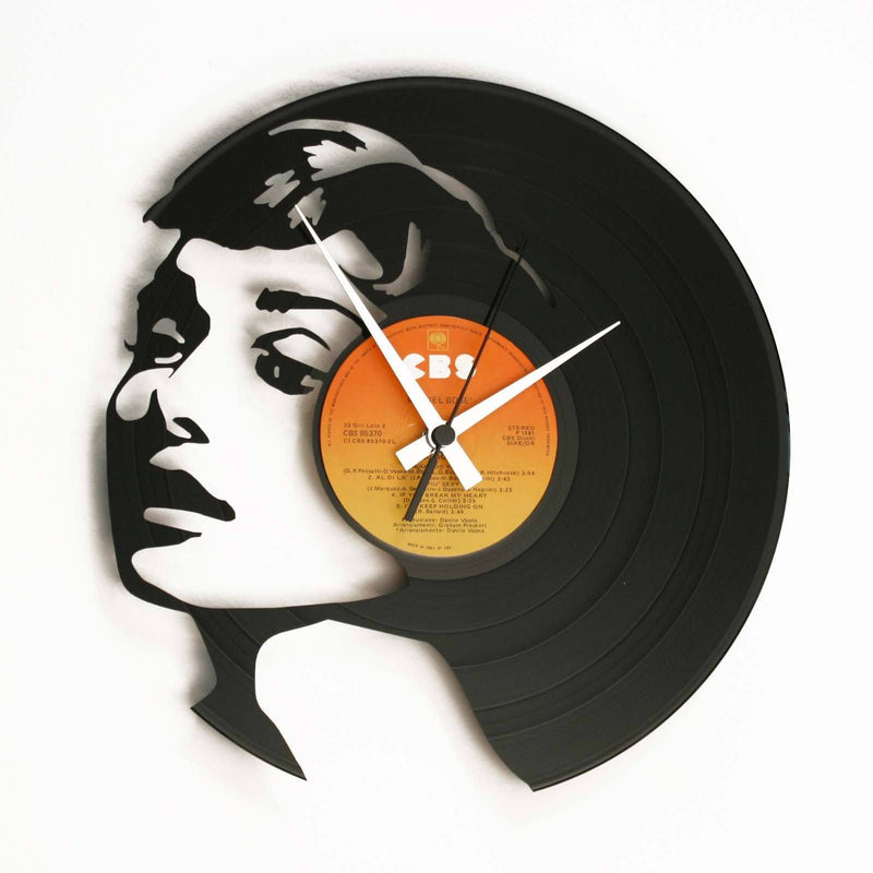 DISC'O'CLOCK Vinyl Record Audrey Hepburn Wall Clock 30cm DOC034