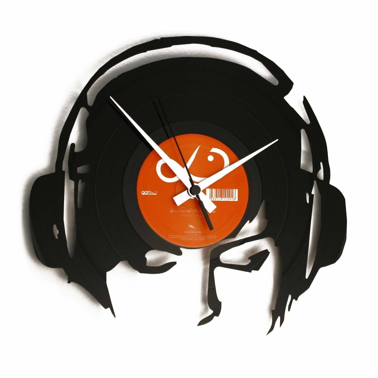 DISC'O'CLOCK Vinyl Record DJ At Work Wall Clock 30cm DOC030