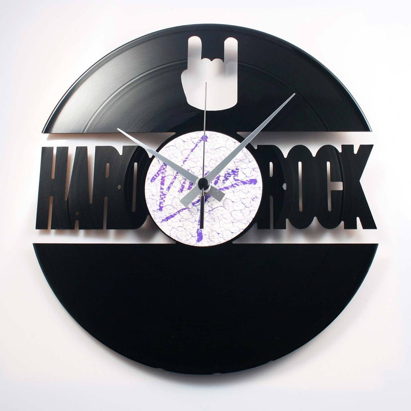 DISC'O'CLOCK Vinyl Record Hard Rock Wall Clock 30cm DOC072