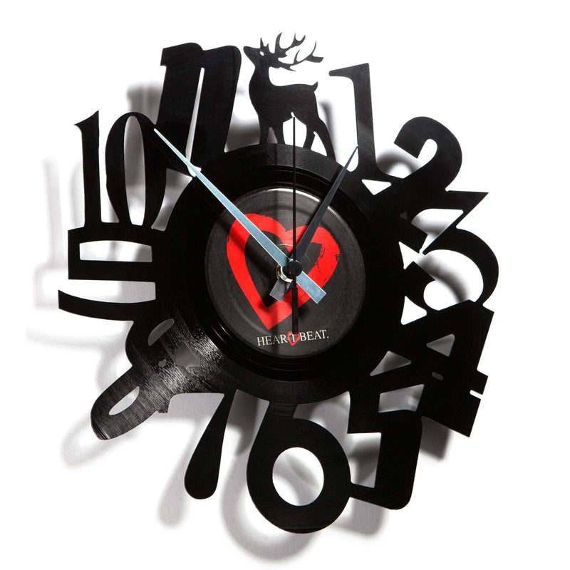 DISC'O'CLOCK Vinyl Record Numbers Wall Clock 30cm DOC001