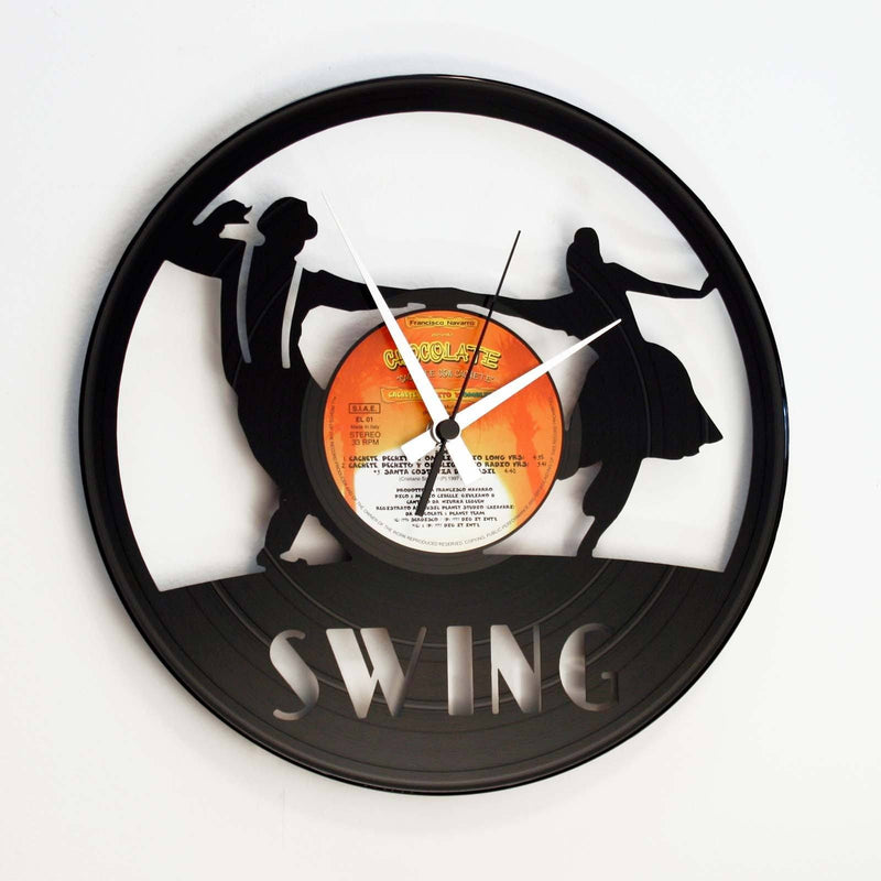 DISC'O'CLOCK Vinyl Record Swing Dancing Wall Clock 30cm DOC063