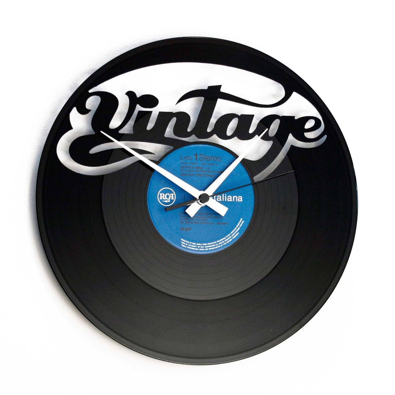 DISC'O'CLOCK Vinyl Record Vintage Wall Clock 30cm DOC058
