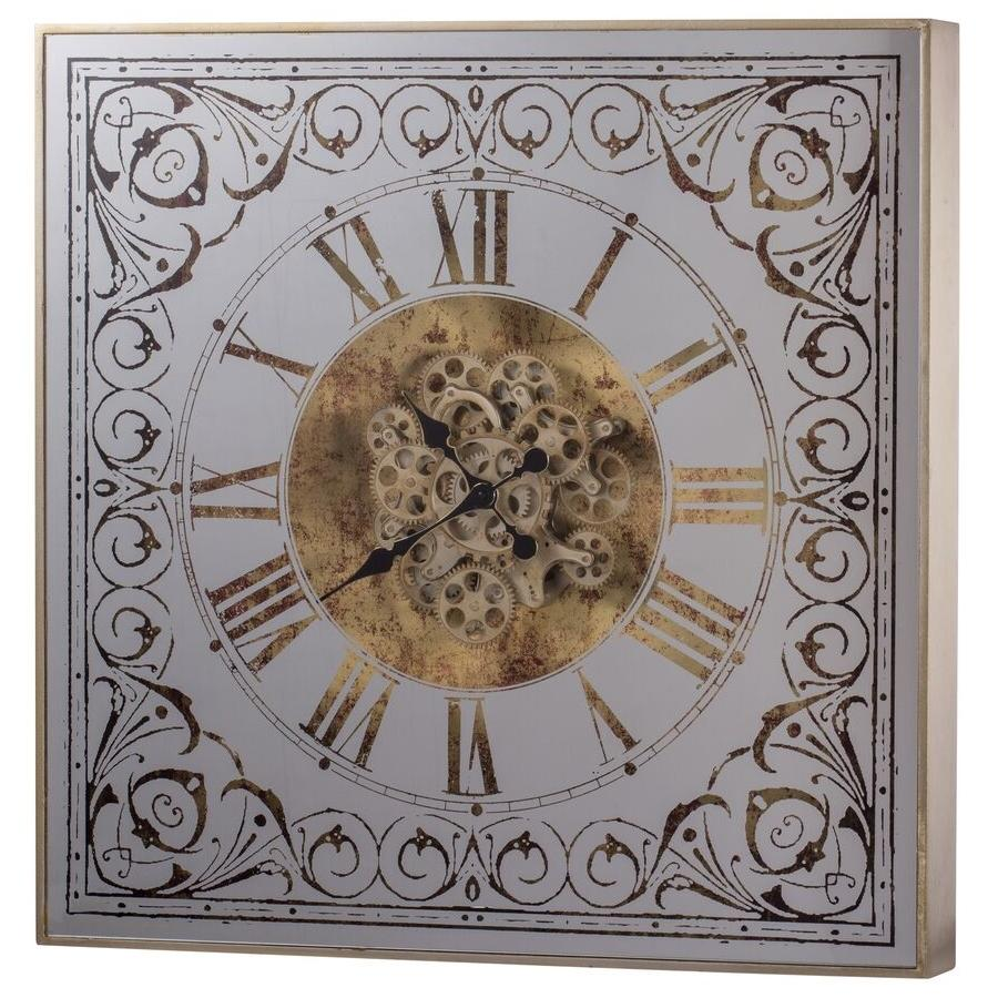 The Otto 3D Moving Cogs Mirror Metal Wall Clock, 82cm