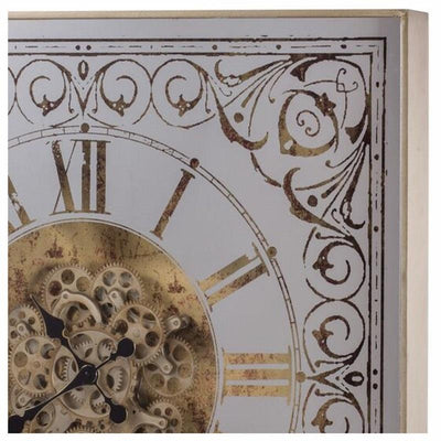 Divinity Square Framed 3D Wall Clock Brass 82cm 38536 5 2