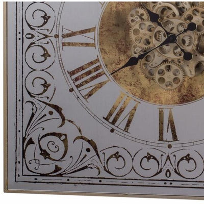 Divinity Square Framed 3D Wall Clock Brass 82cm 38536 5 3