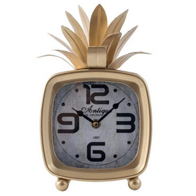 Divinity Square Pineapple Antique Metal Table Clock 26cm 44570 3