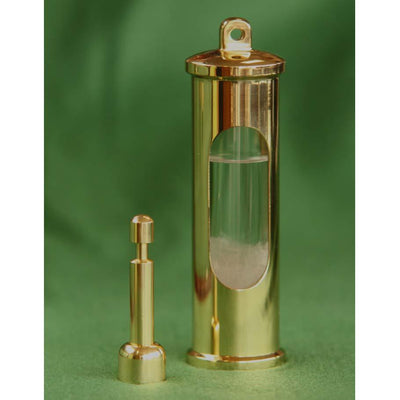 E.S.Sorensen Polished and Lacquered Brass Stormglass 15cm 550401 1