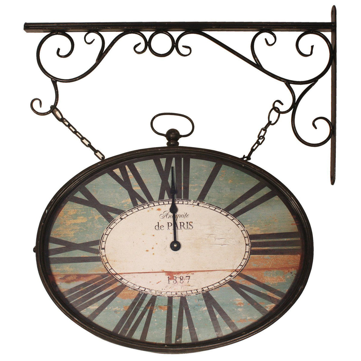 railway station wall clock buy elegant designs double sided station iron wall clock 67cm amipublicfo gallery