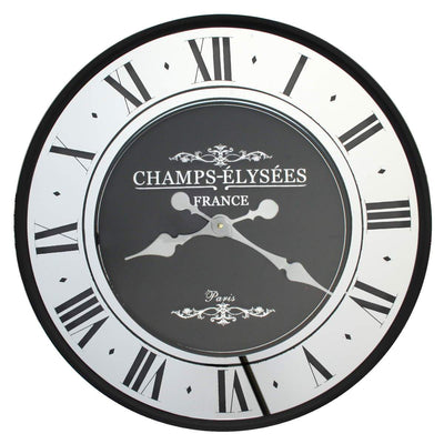 Florence Champ Elysees Mirrored Roman Wall Clock 59cm WJ097Z 1