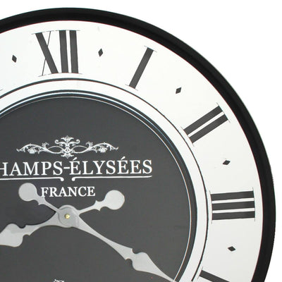 Florence Champ Elysees Mirrored Roman Wall Clock 59cm WJ097Z 2