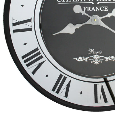 Florence Champ Elysees Mirrored Roman Wall Clock 59cm WJ097Z 3