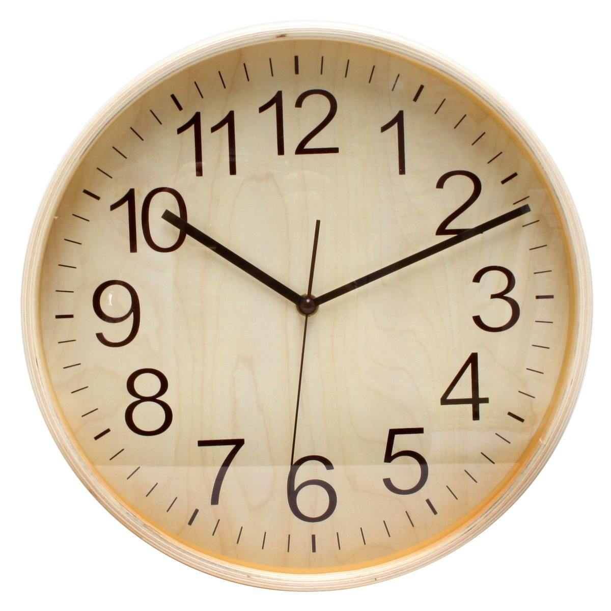Florence Essence Classic Wooden Wall Clock Light Brown 28cm WJ096E 1