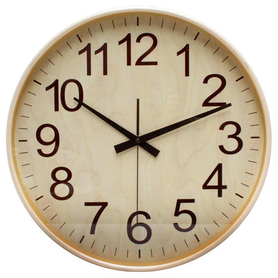 Florence Essence Classic Wooden Wall Clock Light Brown 40cm WJ096F 1