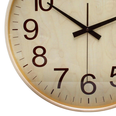 Florence Essence Classic Wooden Wall Clock Light Brown 40cm WJ096F 3