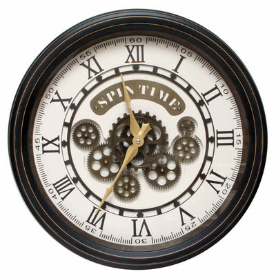 Florence Spin Time Moving Gears Wall Clock 52cm WJ091D 1