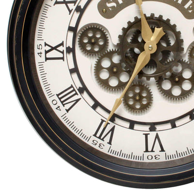 Florence Spin Time Moving Gears Wall Clock 52cm WJ091D 3