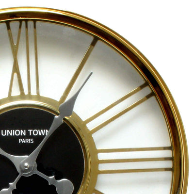 Florence Union Town Paris Floating Roman Gold Wall Clock 44cm WJ093H 2