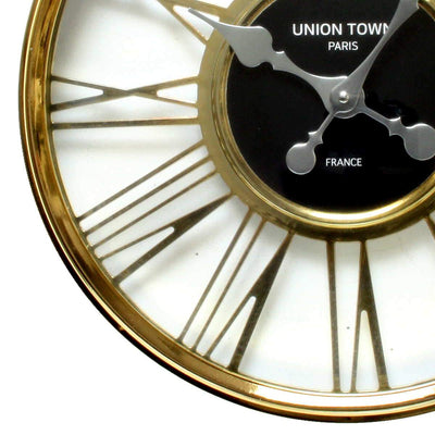 Florence Union Town Paris Floating Roman Gold Wall Clock 44cm WJ093H 3