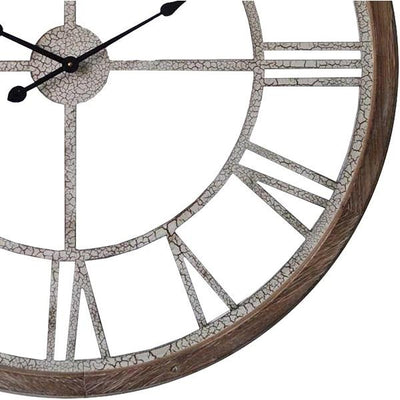 Hamptons Crackle Finish Floating Wall Clock 93cm 11704CLK Bottom
