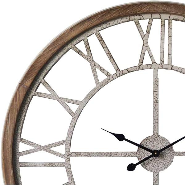 XXL Hamptons Crackle Finish Floating Wall Clock, 93cm
