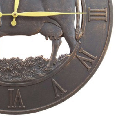 Farm Cattle Iron Outdoor Wall Clock 58cm ICRL-R15 Bottom