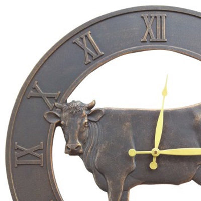 Farm Cattle Iron Outdoor Wall Clock 58cm ICRL-R15 Top