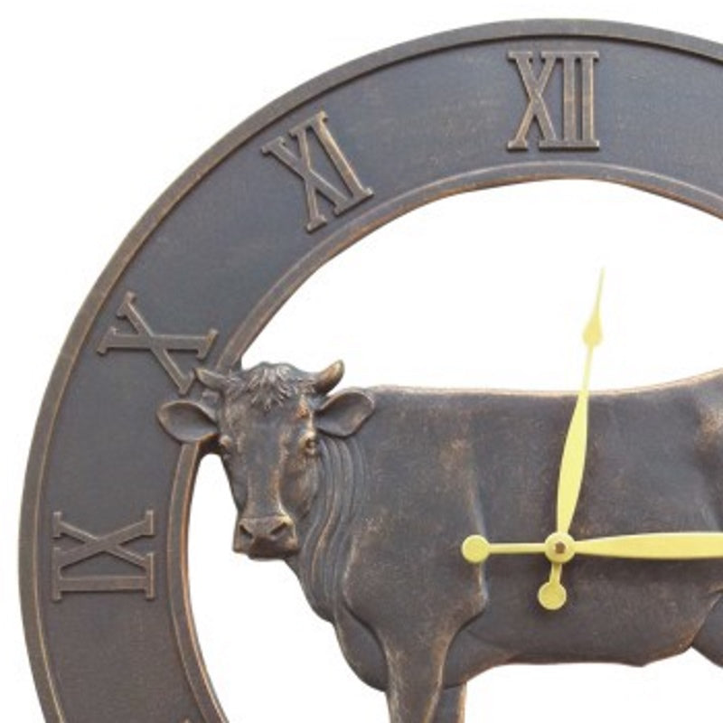 Farm Cattle Iron Outdoor Wall Clock 58cm ICRL-R15 Front