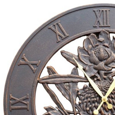 Waratah Flower Cast Aluminium Outdoor Wall Clock 58cm ICRL-R39 2