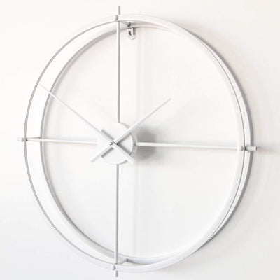Ivory and Deene Lincoln Wall Clock White 60cm ID1019 1