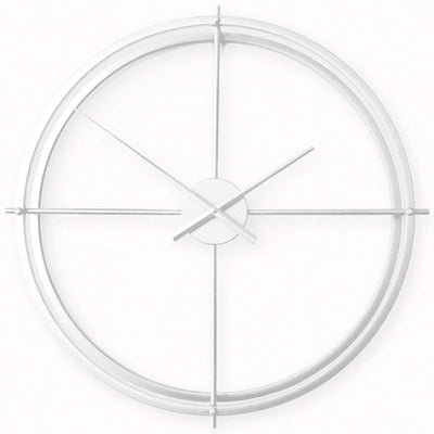 Ivory and Deene Lincoln Wall Clock White 60cm ID1019 2