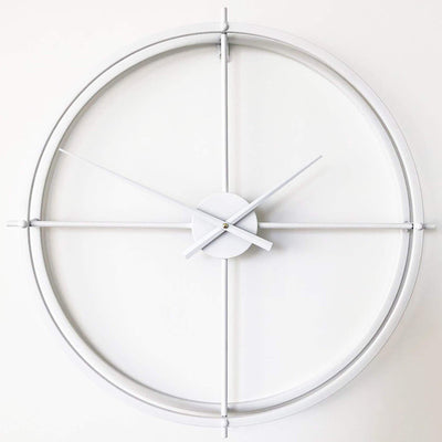 Ivory and Deene Lincoln Wall Clock White 60cm ID1019 3