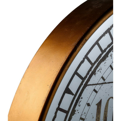 Large Round Mirror Moving Cogs Wall Clock 82cm Rim 38535