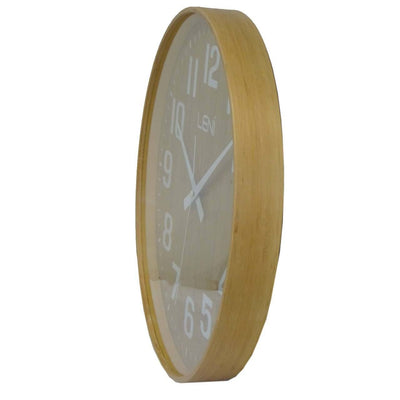 Leni Wood Wall Clock Bamboo Small Side 32000BAM