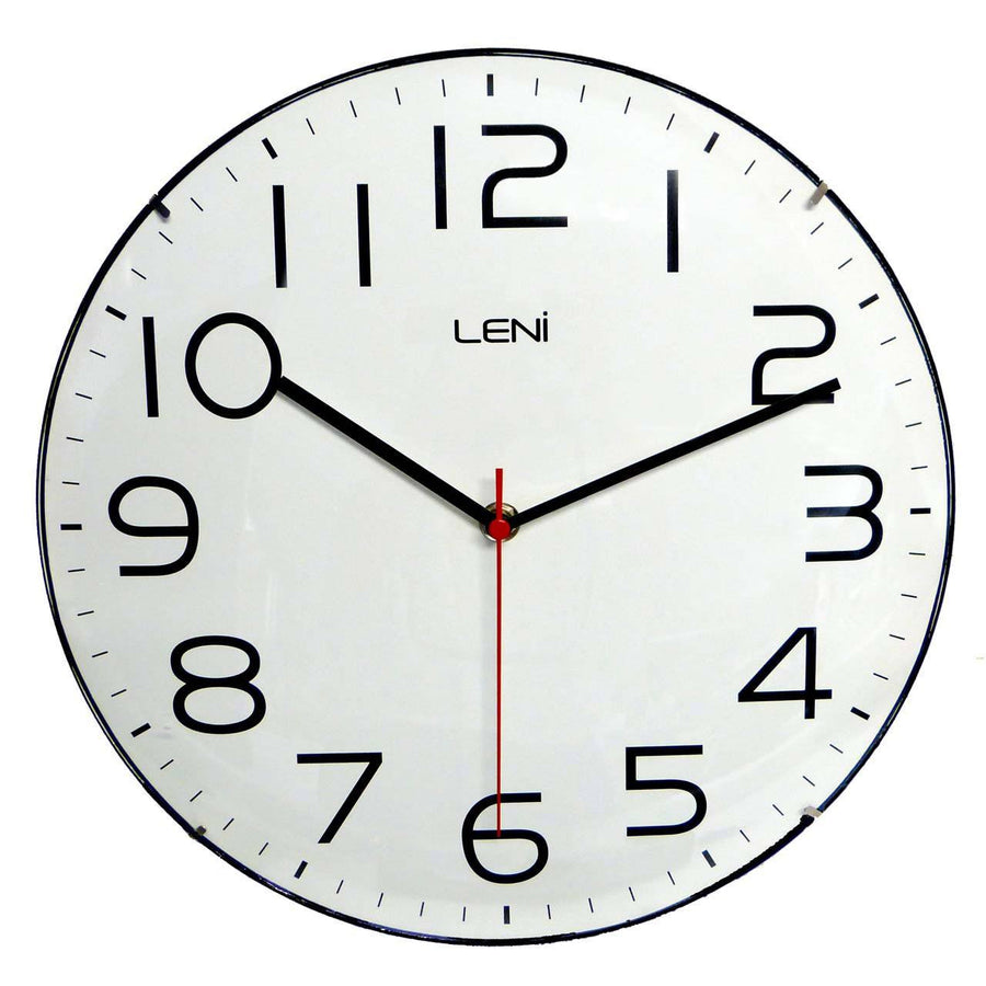 Australias 1 wall clock alarm clock online store oh clocks leni classic wall clock white 30cm amipublicfo Image collections