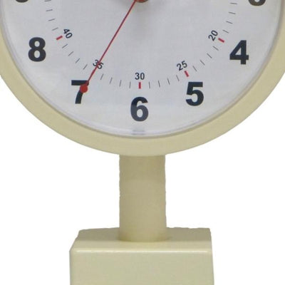 Leni Double Sided Station Wall Clock Metal Ivory 20cm A62030IVO Bottom