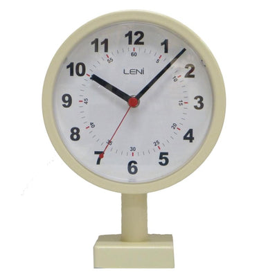 Leni Double Sided Station Wall Clock Metal Ivory 20cm A62030IVO Front